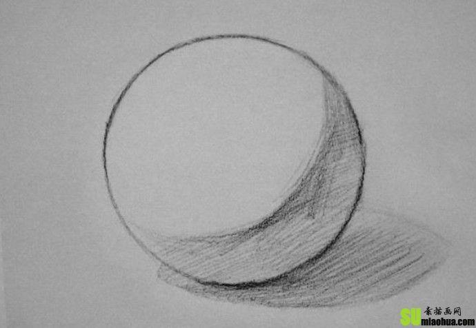 素描几何体中球体绘画教程图片