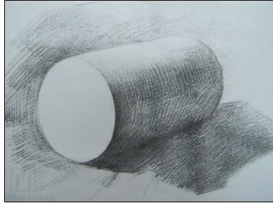新手素描圆柱的明暗画法