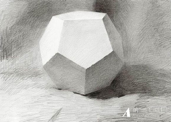 新手素描石膏体多面体的明暗处理方法
