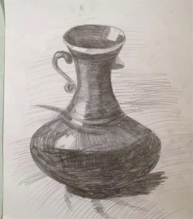 新手素描花瓶的起形方法