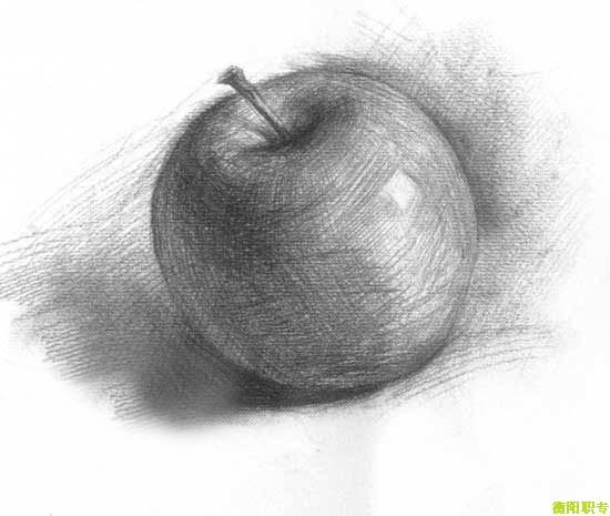 学院风素描苹果赏析