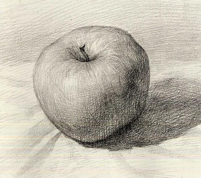 素描苹果另类的明暗手法