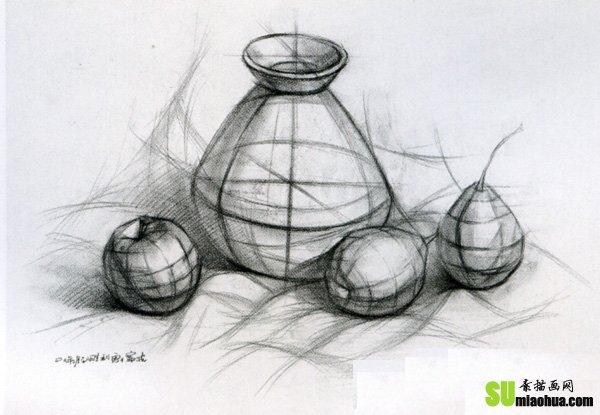 圆形素描步骤图解图片