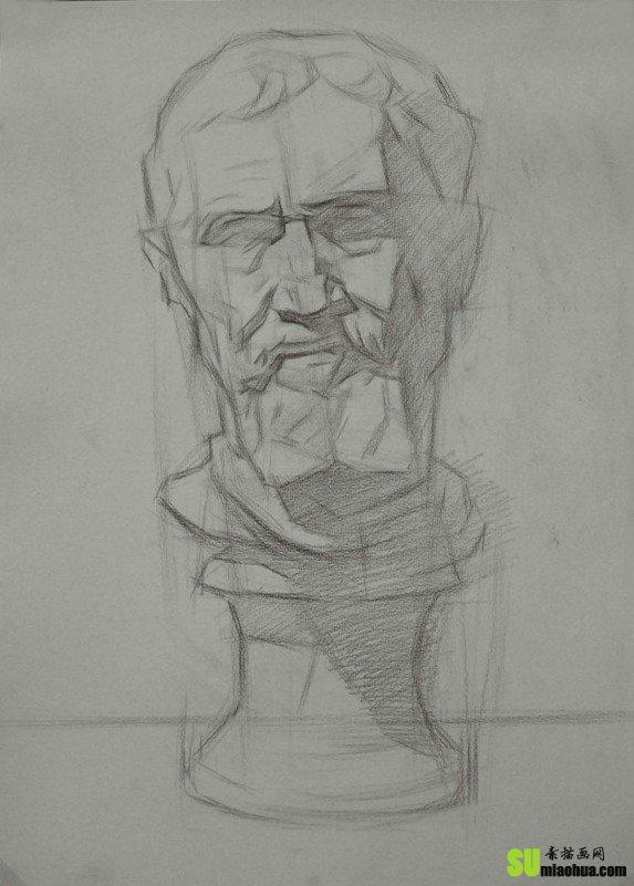 米开朗琪罗素描石膏像教程