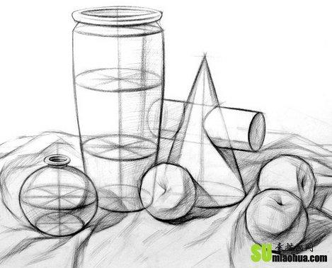 素描中物体的立体塑造图片